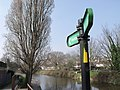 Footpath sign on Royal Military Canal, Hythe - geograph.org.uk - 2307936.jpg