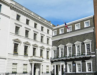 Embassy of Libya, London - The Former Libyan Embassy in St James Square which was known as the  Libyan People's Bureau