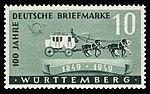 Fr. Zone Württemberg 1949 49 Postkutsche.jpg