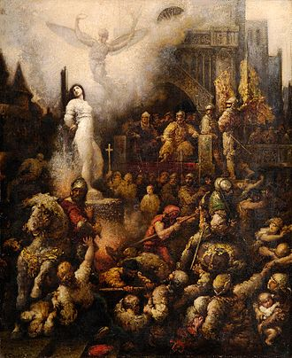 Trial of Joan of Arc - Joan of Arc, being burnt at stake.
