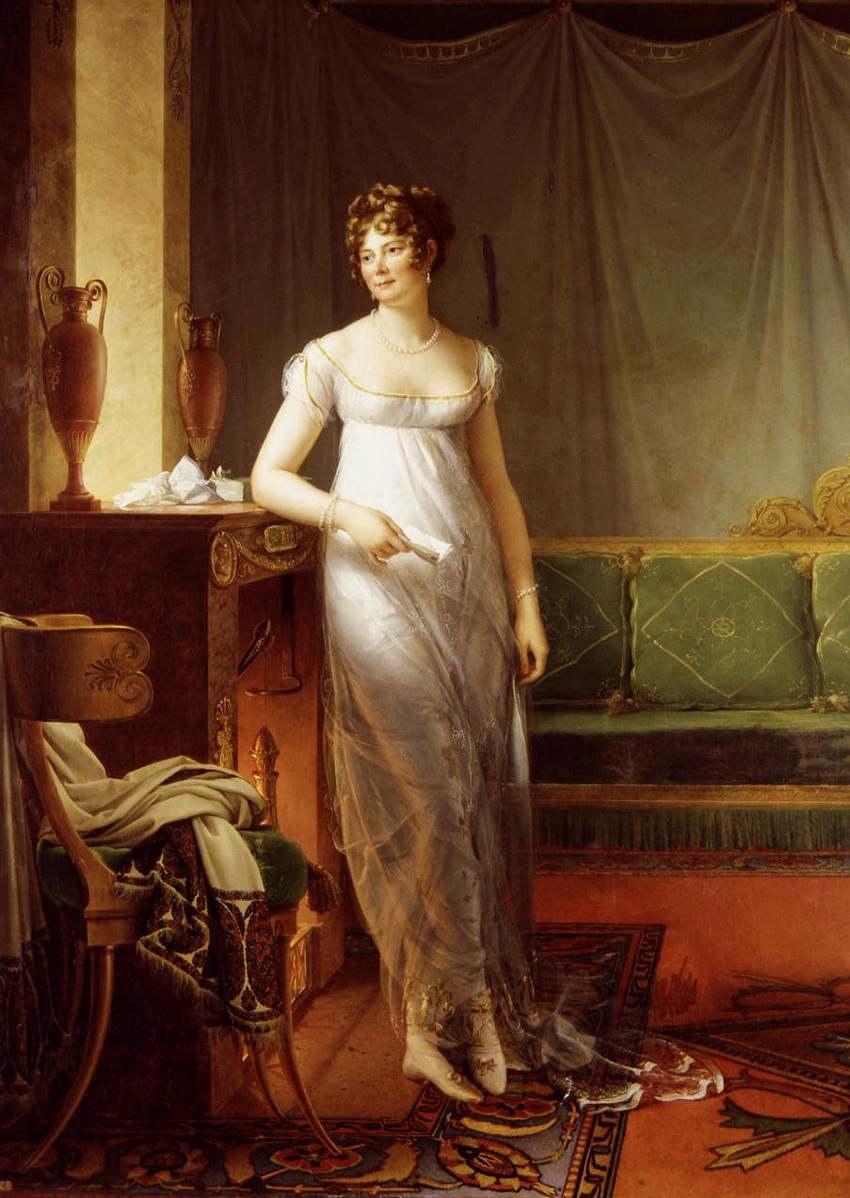 François Gérard - Portrait of Catherine Worlée, Princesse de Talleyrand-Périgord - WGA08599