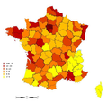 France Density of Monuments historiques by department (czech version).png