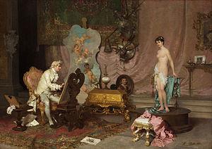 Francesco Beda - Painter in Studio with Model