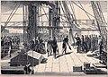 Francesco II si imbarca e lascia Gaeta sulla nave Mouette 14-2-1861 - LMI 23-2-1861.jpg