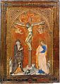 Francesco di Vannuccio. Crucifixion with the Virgin and Saint John the Evangelistc. 1387-88 Philadelphia Museum of Art (CAT94).jpg