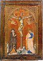 Francesco di Vannuccio. Crucifixion with the Virgin and Saint John the Evangelistc. 1387-88 Philadelphia Museum of Art (CAT94).jpg