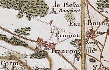 Franconville Sur La Carte De Cassini Vers 1780