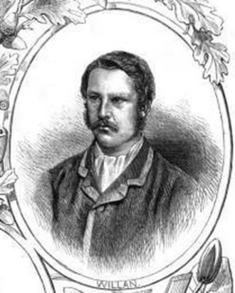 Frank Willan (rower) - Willan, in a wood engraving of about 1870