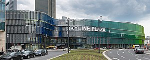 Skyline Plaza (Frankfurt) - Skyline Plaza, view from Europa-Allee with Tower 185 in the background