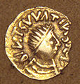 Frankish gold Tremissis imitation of Bizantine Tremissis mid 500s.jpg