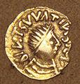 Frankish gold Tremissis imitation of Bizantine Tremissis mid 500s.jpg