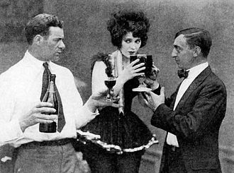 Fred Fishback - Fred Fishback (left) and Edith Roberts in 1919