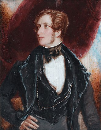 Frederick Stewart, 4th Marquess of Londonderry - Frederick William Robert Stewart, 4th Marquess of Londonderry KP, PC (1805 – 1872), Viscount Castlereagh (1822-1854) (Simon Jacques Rochard, 1833)