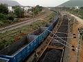 Freight trains at Simhachalam yard.jpg