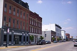 Downtown Fremont, Ohio on South Front Street