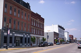 Fremont, Ohio - Downtown Fremont, Ohio on South Front Street