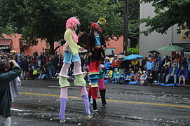 Stilters at the 2011 Fremont Solstice Parade
