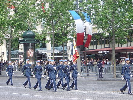 Ceremonial parade for the commemoration of 8 May 1945