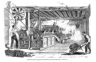 Sugar beet - French sugar beet mill in operation in the 1840s