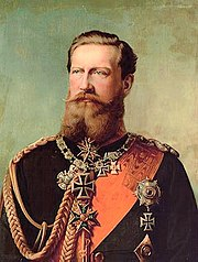 Frederick III, Kaiser for only 99 days (9 March - 15 June 1888)