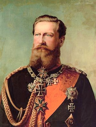 Grand Cross of the Iron Cross - Crown Prince Friedrich Wilhelm of Prussia (later to reign briefly as Kaiser Friedrich III) wearing the 1870 Grand Cross of the Iron Cross.