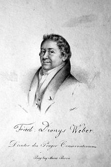 Friedrich Dionys Weber, Lithographie von Josef Eduard Teltscher, um 1830 (Quelle: Wikimedia)