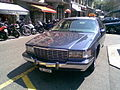 Front view of Cadillac Fleetwood taxi in Geneva, Switzerland.jpg