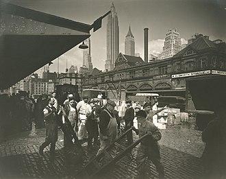 Fulton Fish Market - Fulton Street Fish Market, 1936