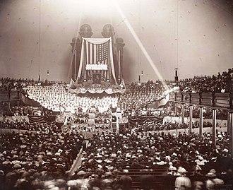 Wilford Woodruff - Woodruff's funeral in the Salt Lake Tabernacle