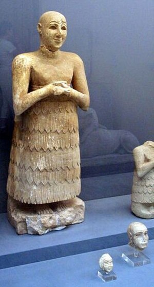 Skirt - Sumerian man wearing a Kaunakes skirt, ca. 3.000 BC
