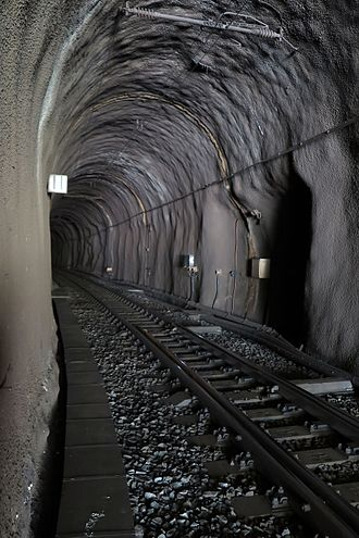 Furka Base Tunnel - Tunnel near the Realp portal