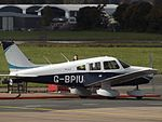 G-BPIU Piper Cherokee Warrior 28 (30305033665).jpg