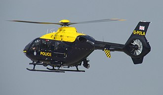 Police aviation in the United Kingdom - G-POLA An EC135 of NPAS, formerly from West Midlands Police.