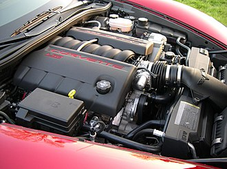 LS based GM small-block engine - GM LS2 engine in a 2005 Chevrolet Corvette