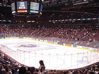 Rogers Arena - Rogers Arena in 2005, before the entertainment upgrades.