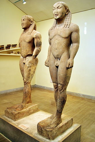 Sounion Kouros - The statue-pair of Kleobis and Biton, ca. 570 BCE