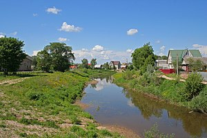 Gzhat River - Image: Gagarin town Gzhat River 02