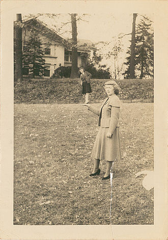 Gail Godwin - Gail Godwin at age 13 with her mother