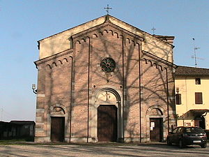 Torrile - The pieve of St. John the Baptist.