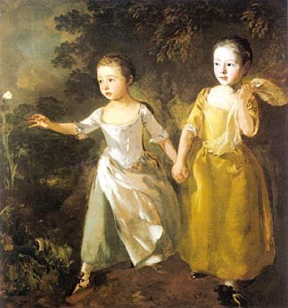 Gainsborough - The Painters Daughters Chasing a Butterfly