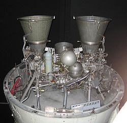 Gamma 2 rocket engine on Black Arrow 2nd stage.jpg