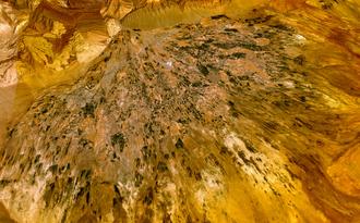 Garmsar - The alluvial fan of Garmsar seen from space