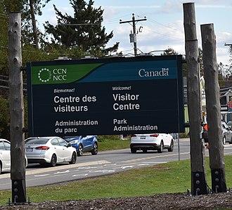 Gatineau Park - Gatineau Park Visitor Centre sign