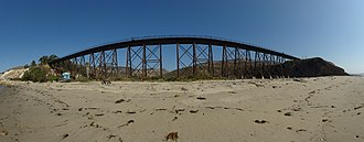 Coast Line (UP) - Bridge at Gaviota State Park, seen from the beach