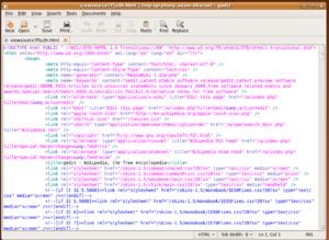 gedit 2.26.1 running on Ubuntu 9.04 and showin...