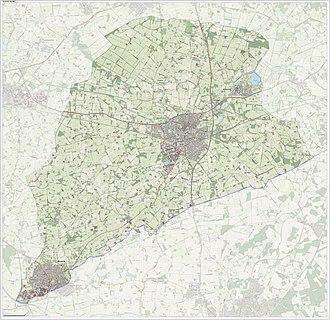 Aalten - Topographic map of Aalten, June 2015