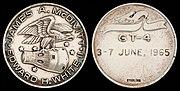 Gemini 4 Flown Silver Fliteline Medallion