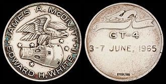 Gemini 4 - Gemini 4 space-flown Fliteline Medallion