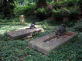 Johann von Thielmann - Graves of three Prussian generals at the cemetery of Coblenz — von Thielmann's is in the foreground to the right