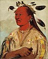George Catlin - Stán-au-pat, Bloody Hand, Chief of the Tribe - 1985.66.123 - Smithsonian American Art Museum.jpg